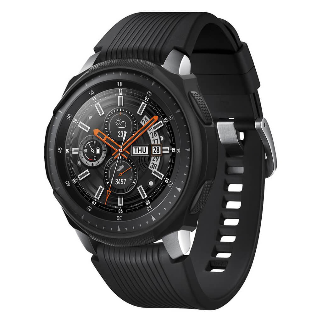 Spigen® Liquid Air™ 603CS25100 Samsung Gear S3 Frontier Galaxy Watch (46mm) Case - Black