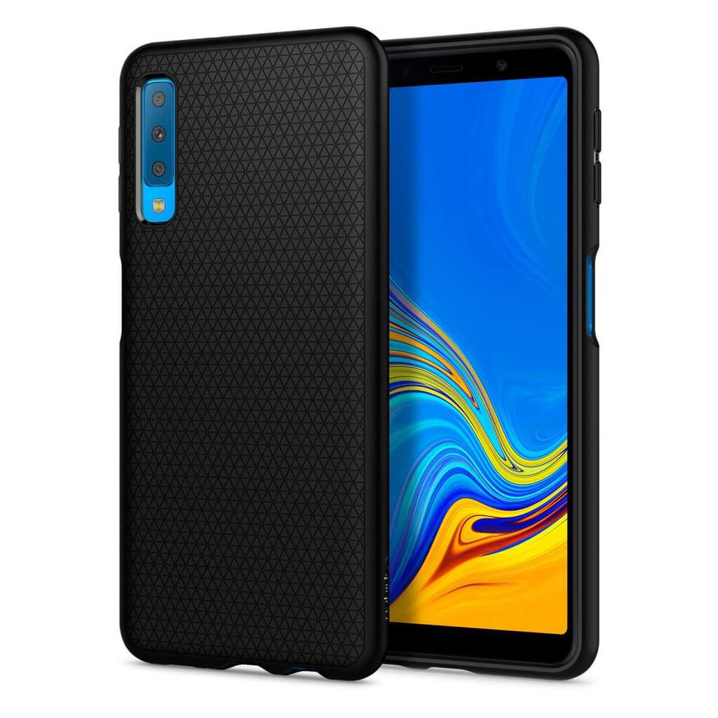 Spigen® Liquid Air™ 608CS25555 Samsung Galaxy A7 (2018) Case - Matte Black