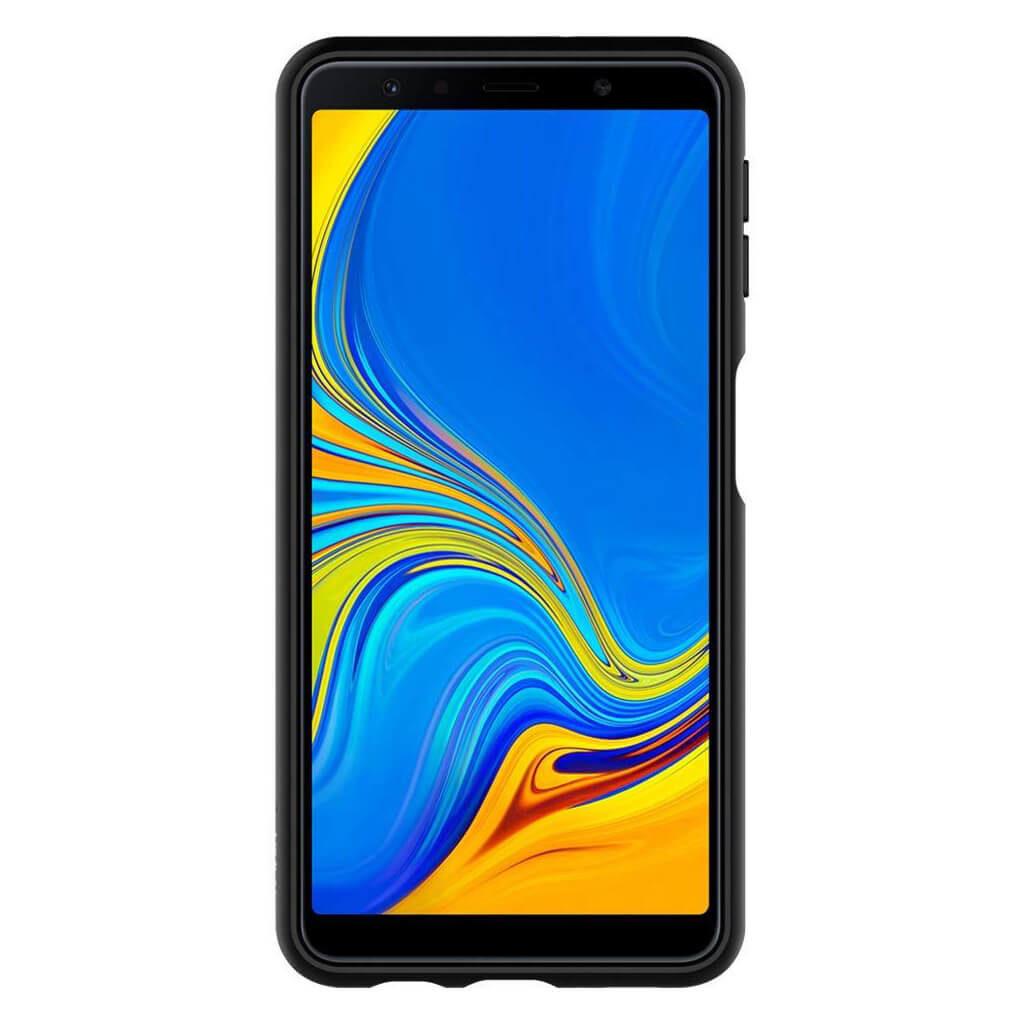 Spigen® Liquid Air™ 608CS25555 Samsung Galaxy A7 (2018) Case - Matte Black