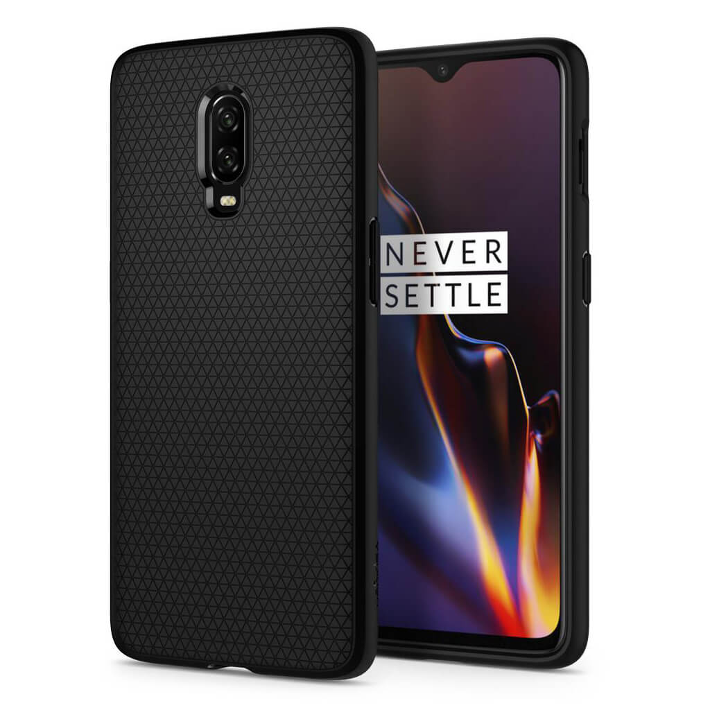 Spigen® Liquid Air™ K07CS25308 OnePlus 6T Case - Black