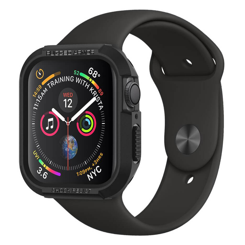 Spigen® Rugged Armor™ 062CS24469 Apple Watch Series 4 (44mm) Case - Black
