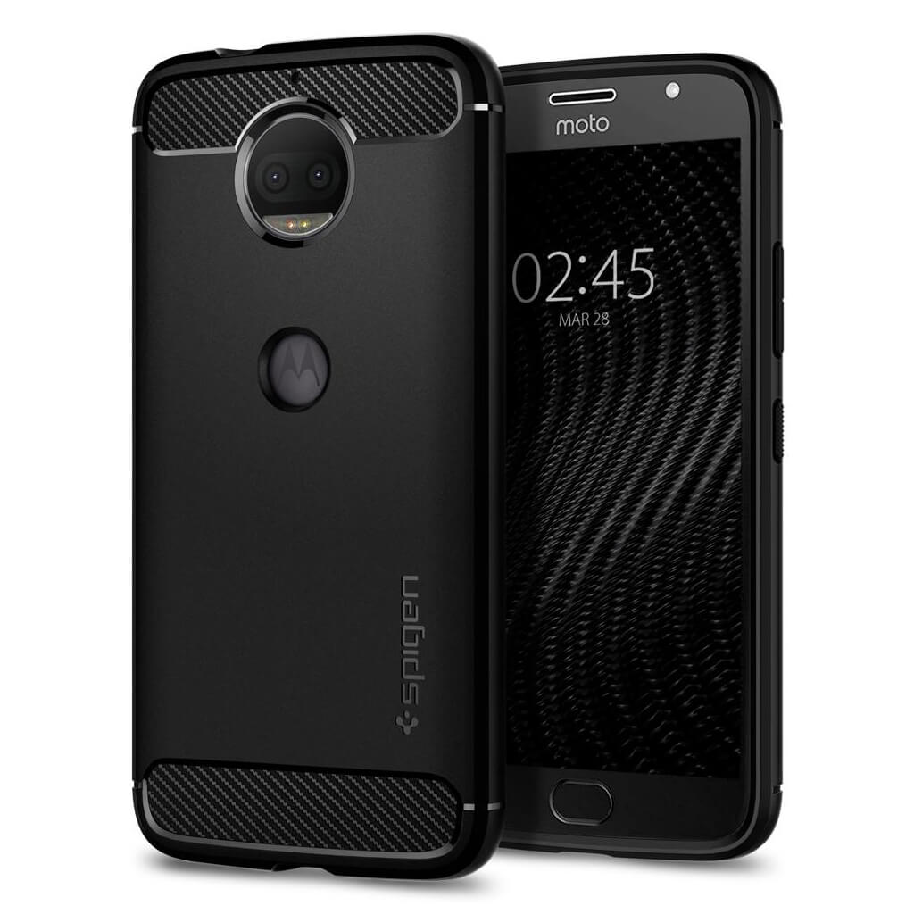 Spigen® Rugged Armor™ M12CS22017 Moto G5S Plus Case - Black