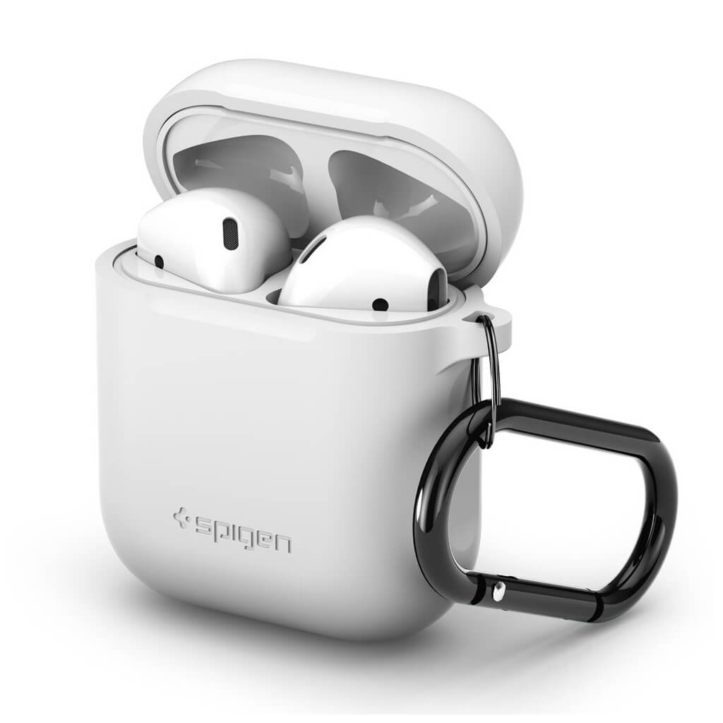 Spigen® Apple AirPods Silicone Case / 066CS24809 - White