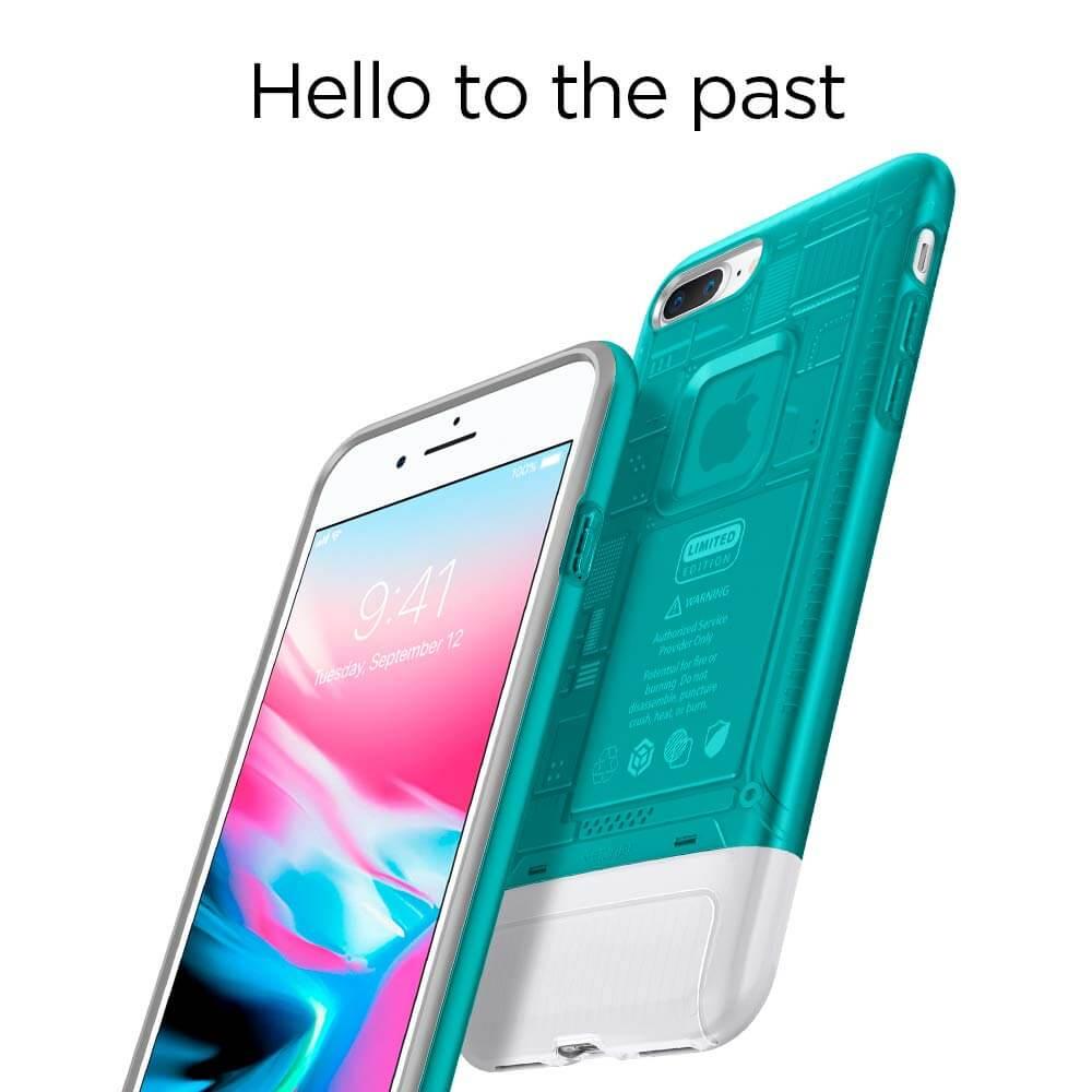 Spigen® Classic C1 055CS24407 iPhone 8 Plus / 7 Plus 10th Year Anniversary Limited Edition Case - Bondi Blue