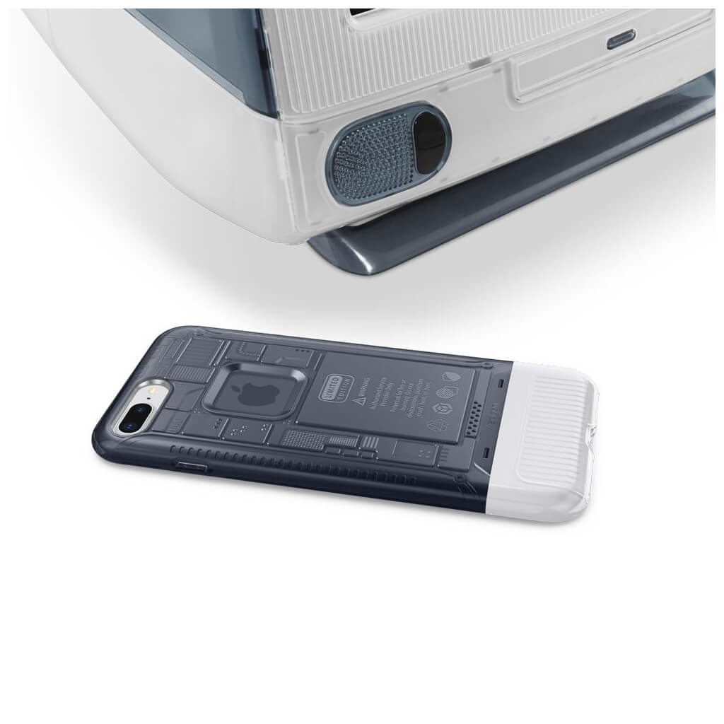 Spigen® Classic C1 055CS24410 iPhone 8 Plus / 7 Plus 10th Year Anniversary Limited Edition Case - Graphite