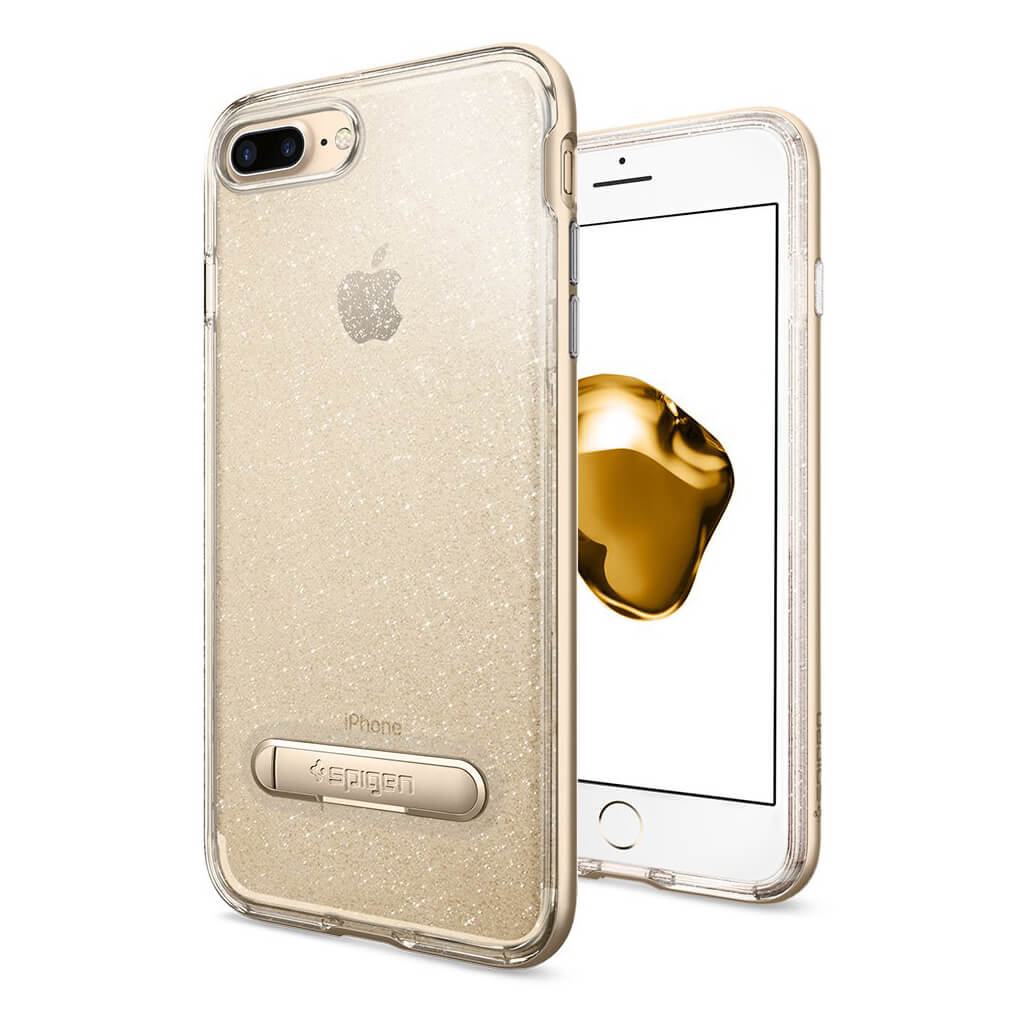Spigen® Crystal Hybrid Glitter™ 043CS21215 iPhone 7 Plus Case - Gold Quartz