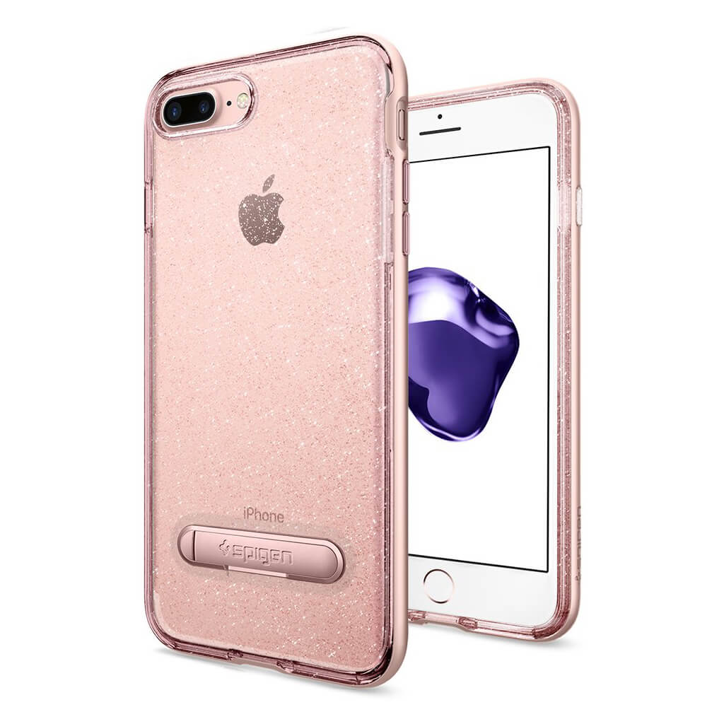 Spigen® Crystal Hybrid Glitter™ 043CS21216 iPhone 7 Plus Case - Rose Quartz
