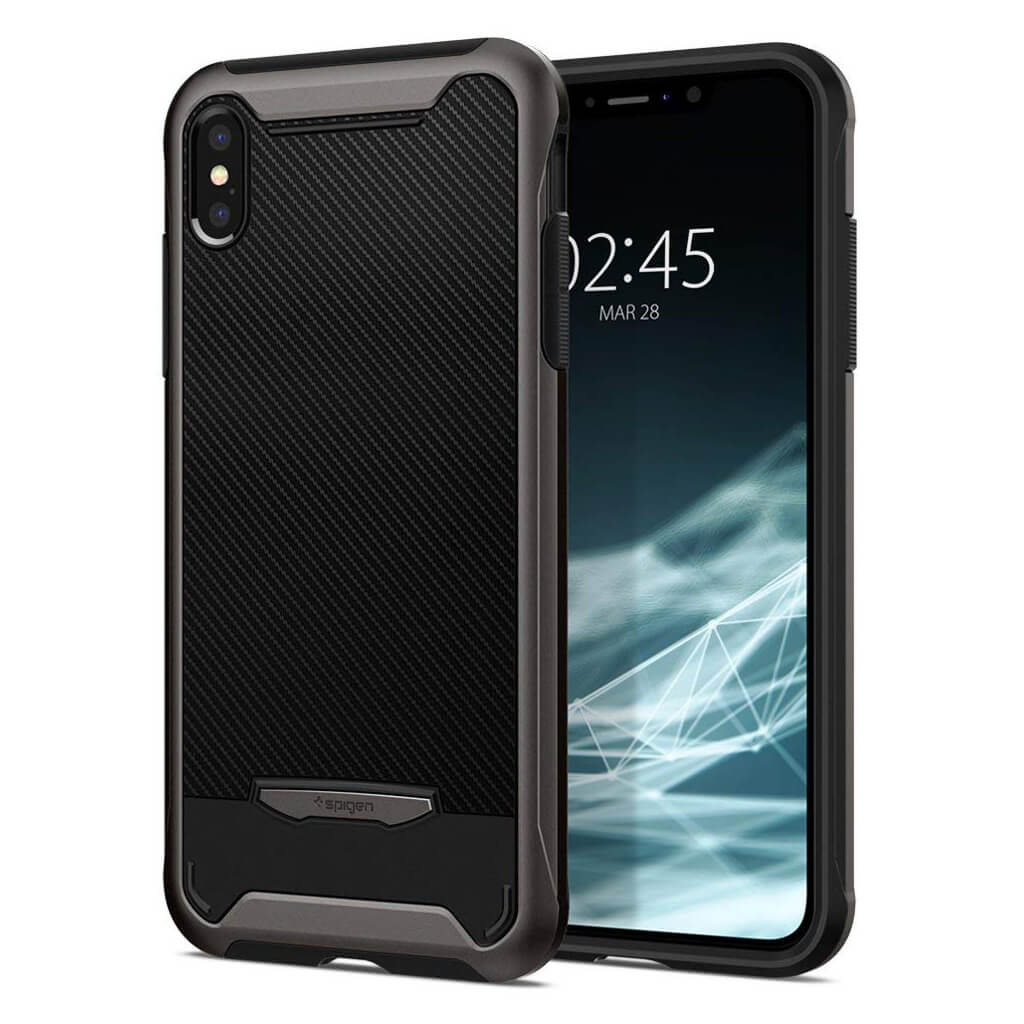 Spigen® Hybrid NX 065CS24863 iPhone XS Max Case - Gunmetal