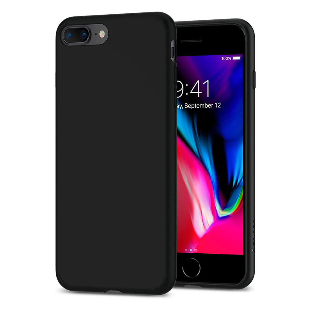 Spigen® Liquid Crystal™ 2 055CS22234 iPhone 8 Plus / 7 Plus Case - Matte Black