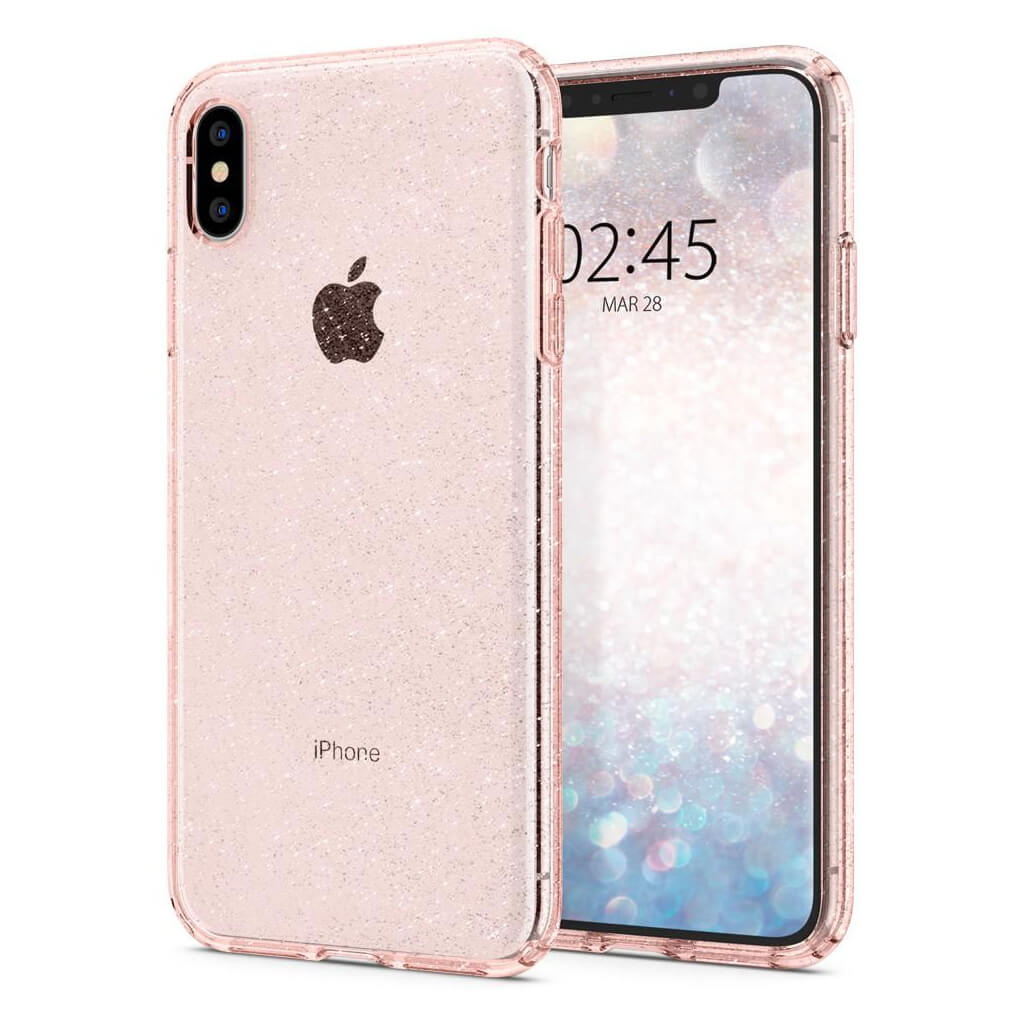 Spigen® Liquid Crystal Glitter™ 065CS25124 iPhone XS Max Case - Rose Quartz
