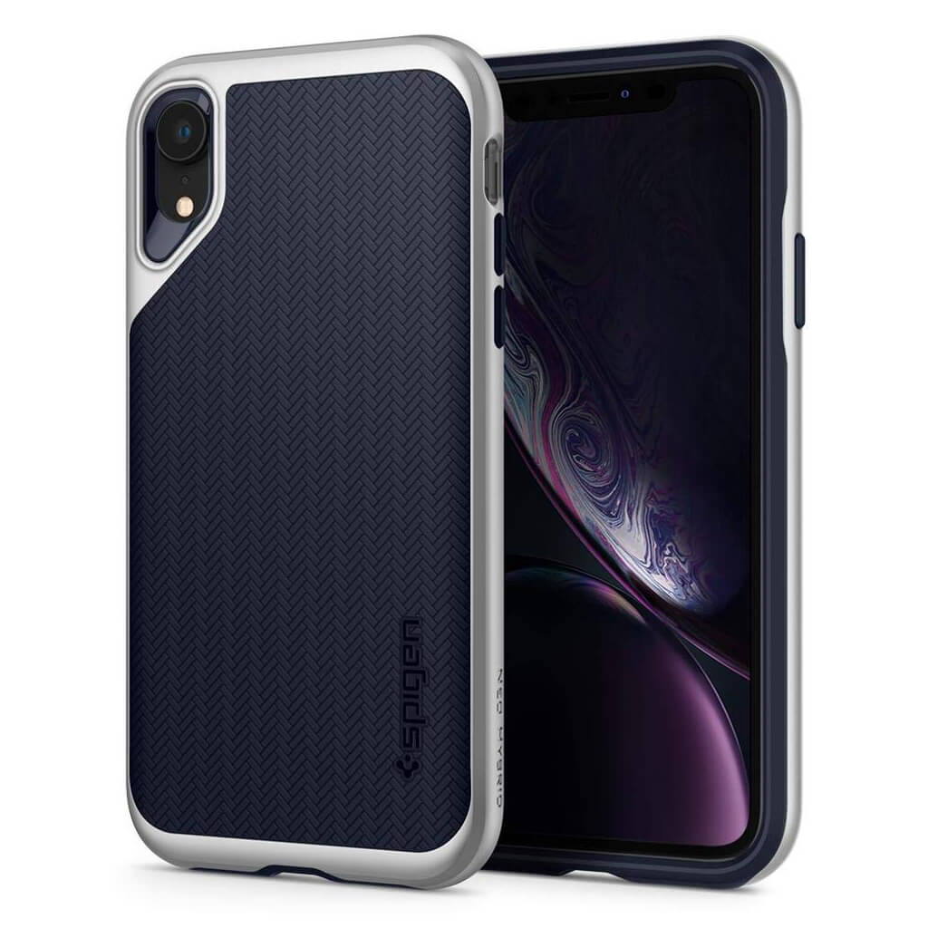 Spigen® Neo Hybrid™ 064CS24880 iPhone XR Case - Satin Silver