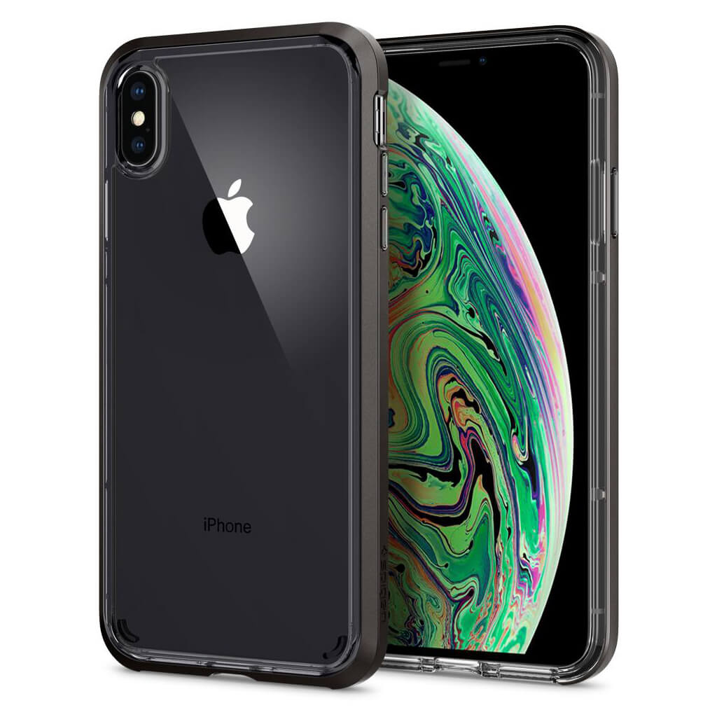 Spigen® Neo Hybrid Crystal™ 065CS24844 iPhone XS Max Case - Gunmetal