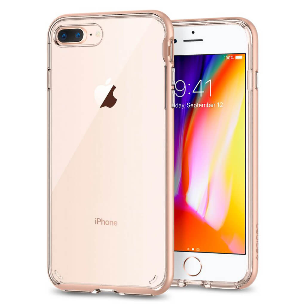 Spigen® Neo Hybrid Crystal™ 2 055CS22574 iPhone 8 Plus / 7 Plus Case - Blush Gold