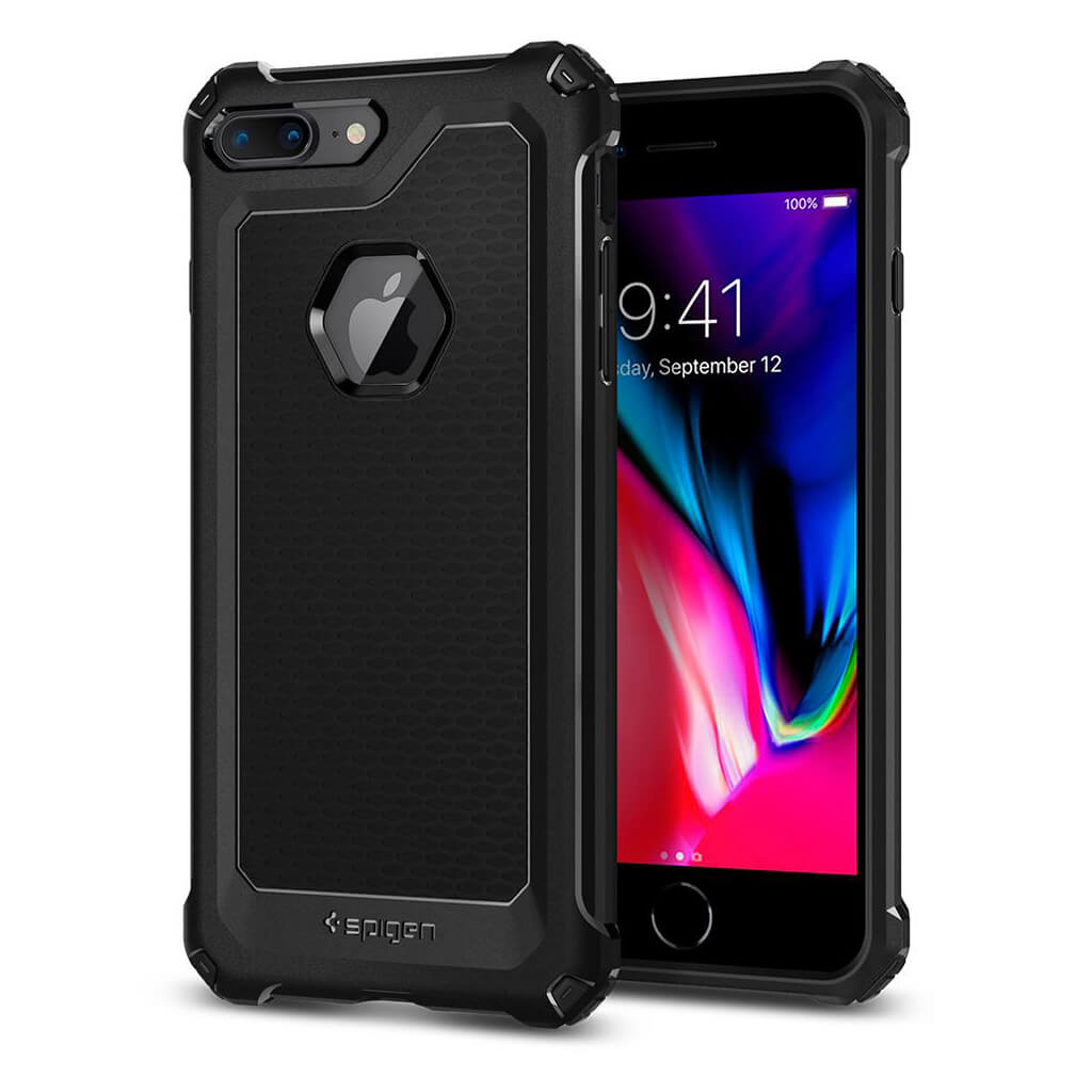 Spigen® Rugged Armor Extra™ 055CS21963 iPhone 8 Plus / 7 Plus Case - Black