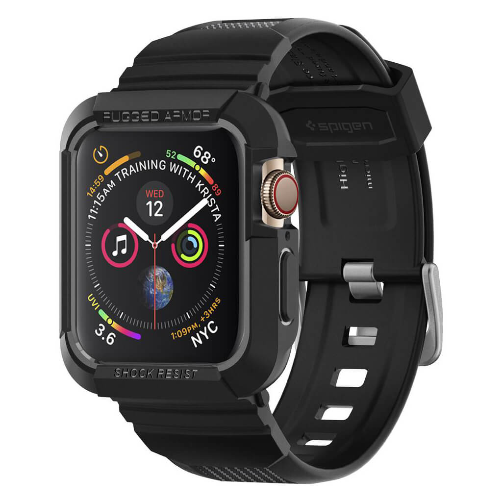 Spigen® Rugged Armor Pro™ 062CS25324 Apple Watch Series 4 (44mm) Case - Black