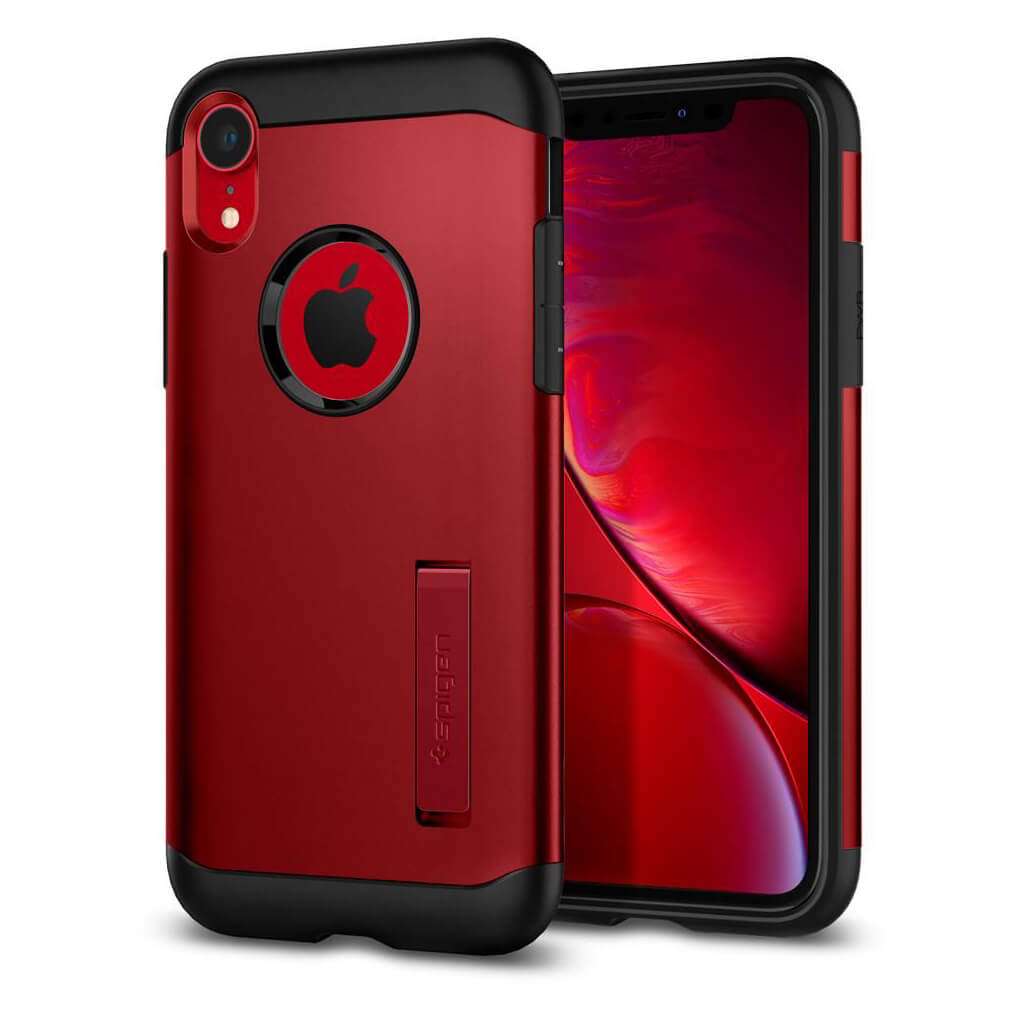 Spigen® Slim Armor™ 064CS25148 iPhone XR Case - Merlot Red