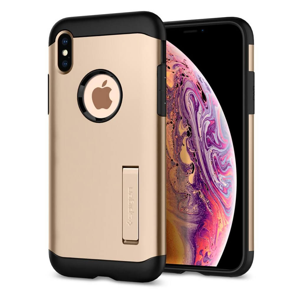 Spigen® Slim Armor™ 065CS25154 iPhone XS Max Case - Champagne Gold