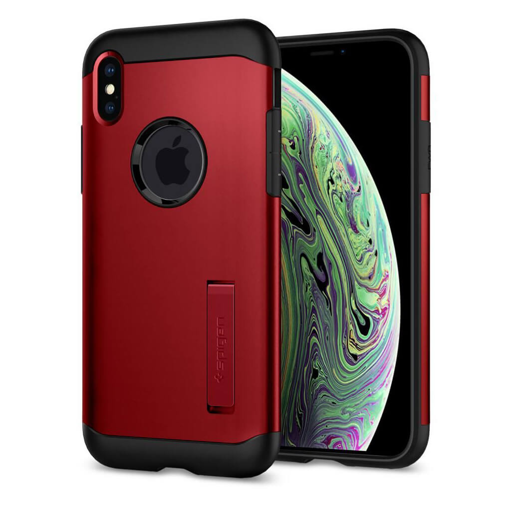 Spigen® Slim Armor™ 065CS25158 iPhone XS Max Case - Merlot Red
