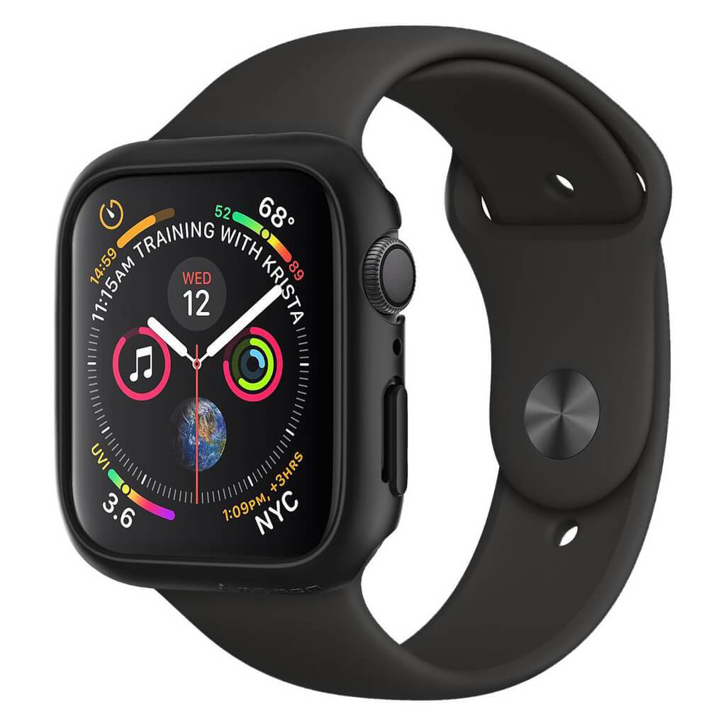 Spigen® Thin Fit™ 062CS24474 Apple Watch Series 4 (44mm) Case - Black