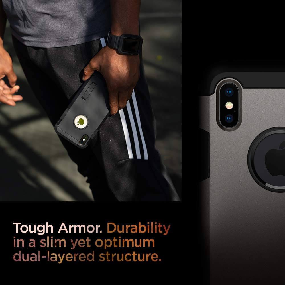 Spigen® Tough Armor™ 065CS25131 iPhone XS Max Case - Gunmetal