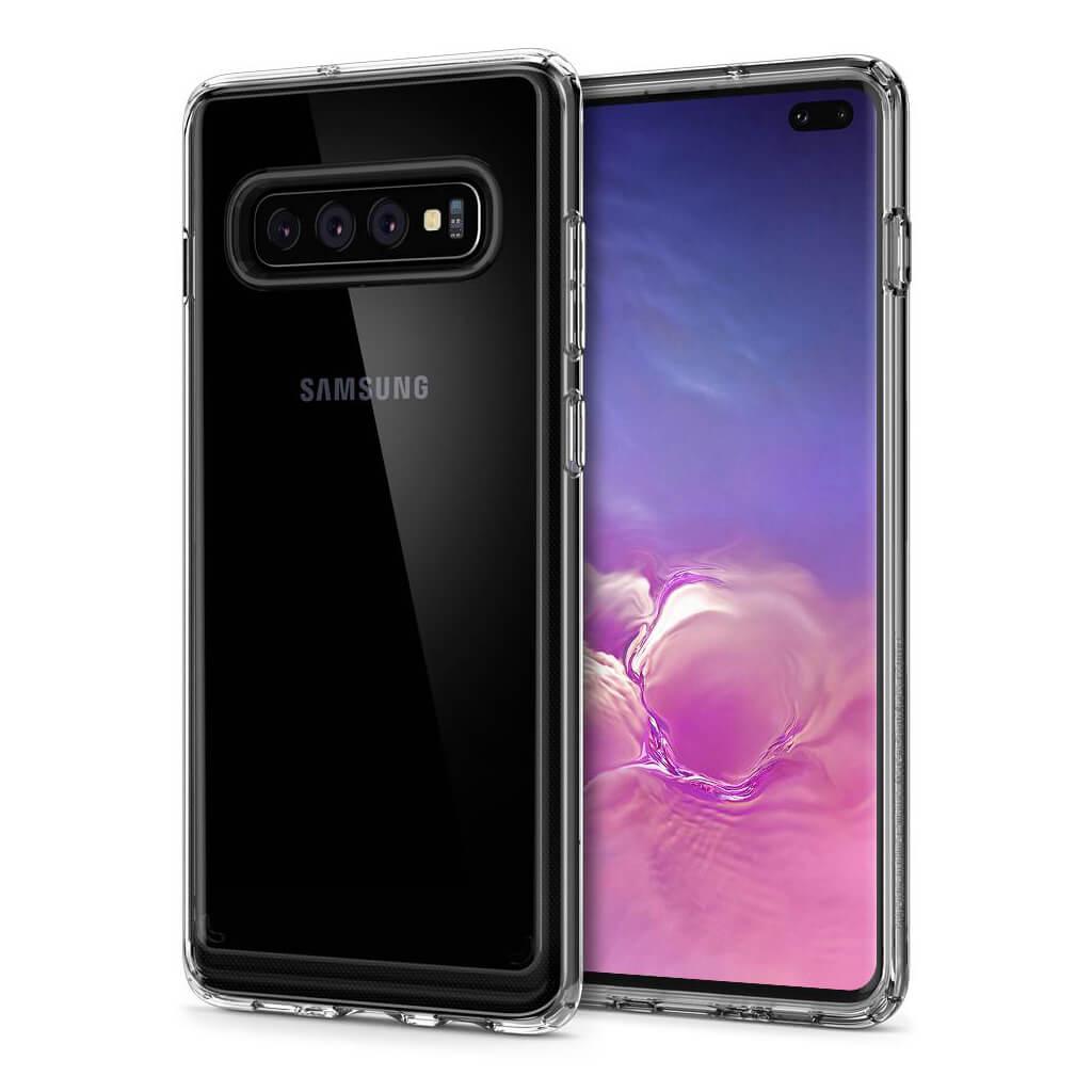 Spigen® Crystal Hybrid™ 606CS25656 Samsung Galaxy S10+ Plus Case - Crystal Clear