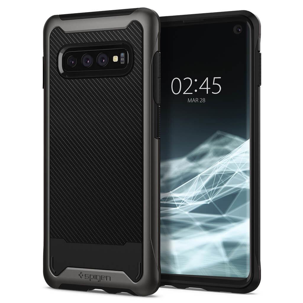 Spigen® Hybrid NX 606CS25657 Samsung Galaxy S10+ Plus Case - Gunmetal