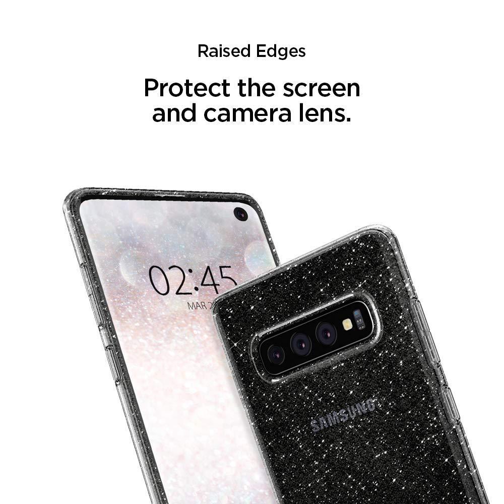 Spigen® Liquid Crystal Glitter™ 606CS25762 Galaxy S10+ Plus Case - Crystal Quartz
