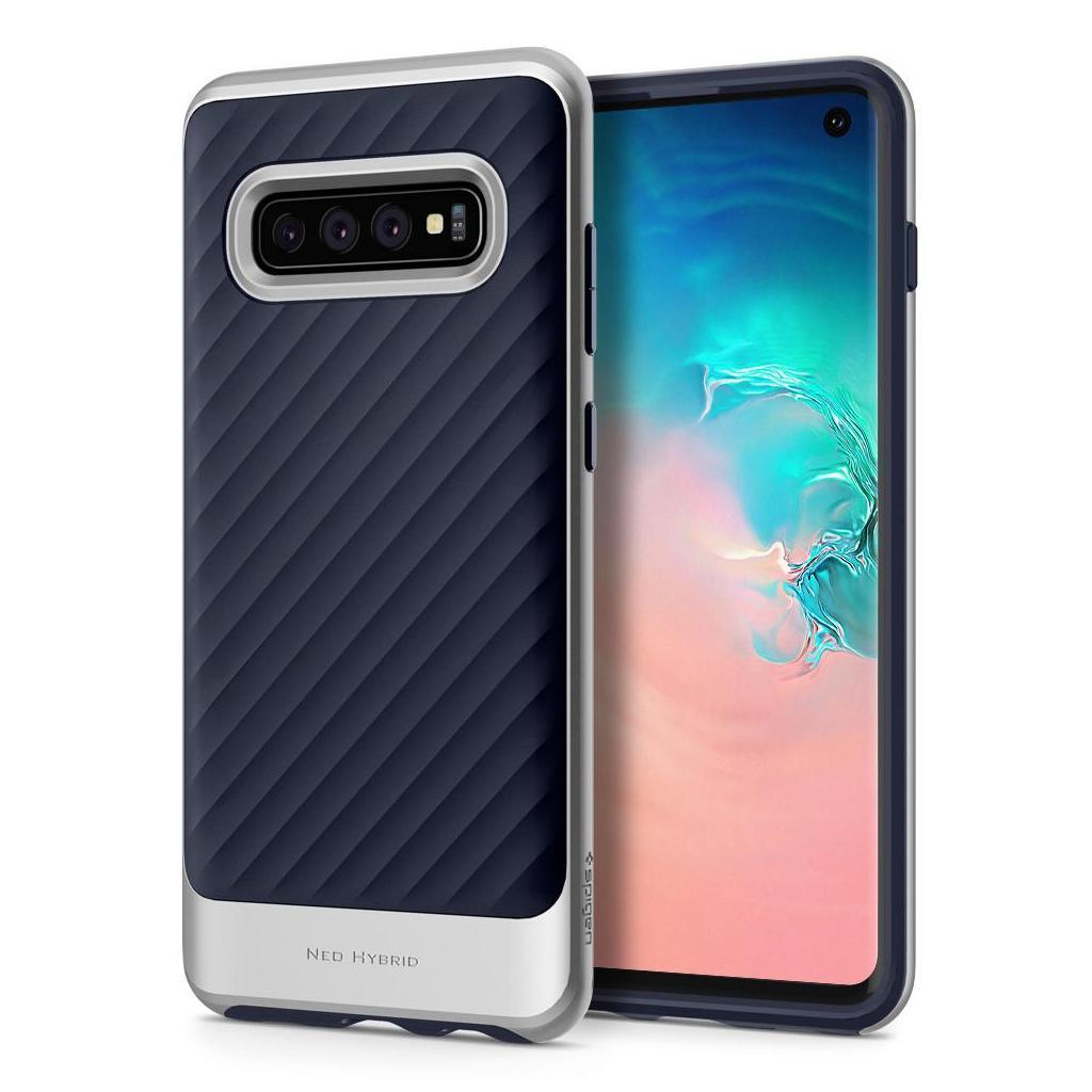 Spigen® Neo Hybrid™ 605CS25811 Samsung Galaxy S10 Case - Arctic Silver