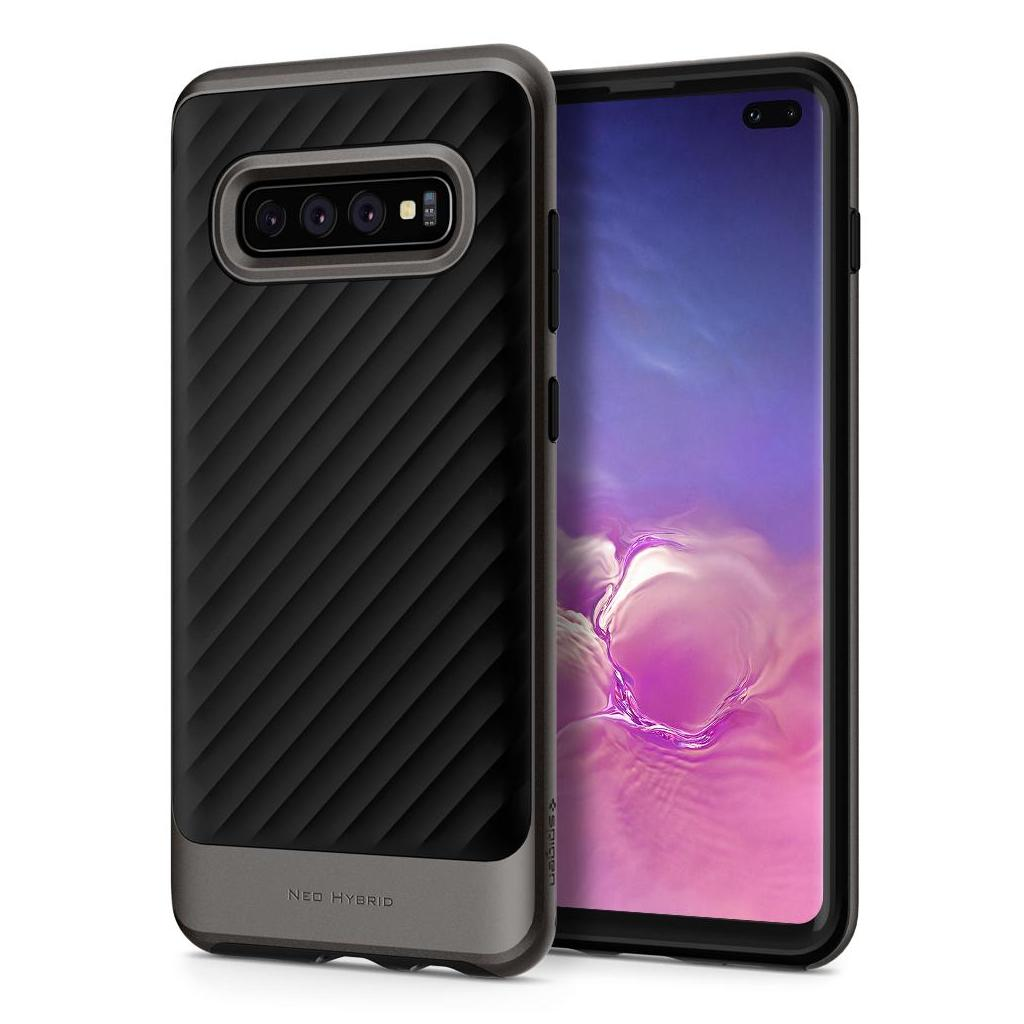 Spigen® Neo Hybrid™ 606CS25774 Samsung Galaxy S10+ Plus Case - Gunmetal