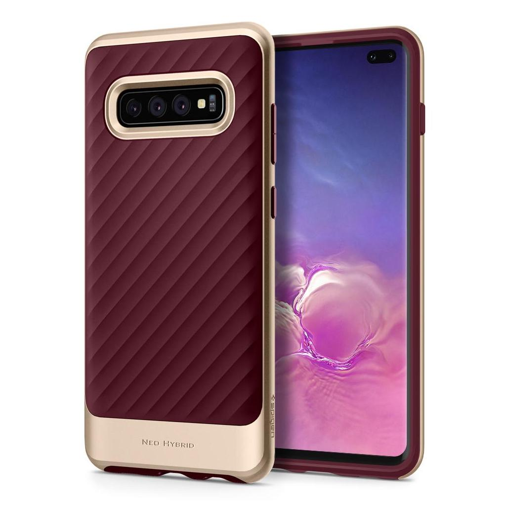 Spigen® Neo Hybrid™ 606CS25775 Samsung Galaxy S10+ Plus Case - Burgundy