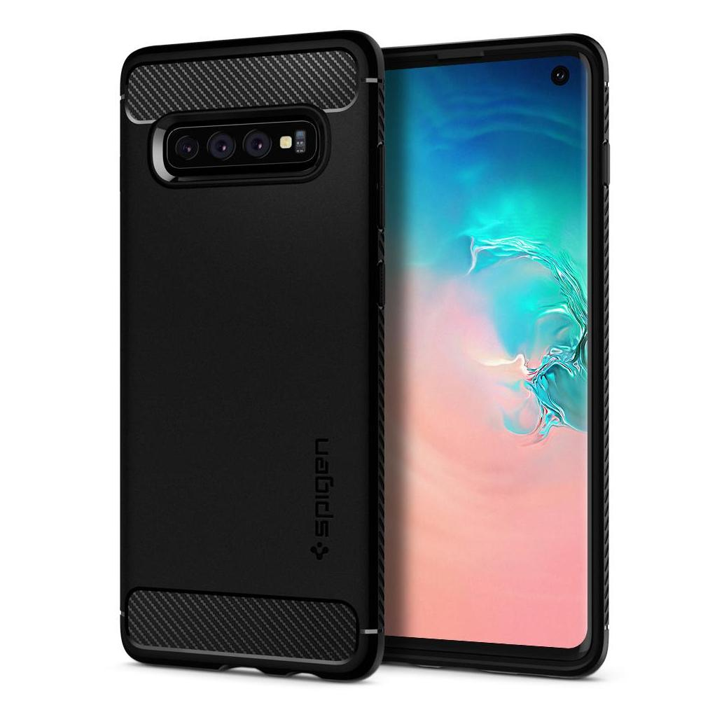 Spigen® Rugged Armor™ 605CS25800 Samsung Galaxy S10 Case - Matte Black