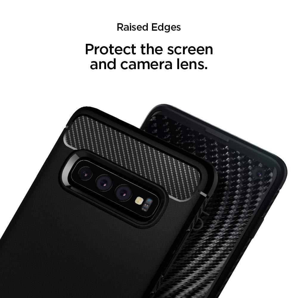 Spigen® Rugged Armor™ 605CS25800 Samsung Galaxy S10 Case - Matte Black