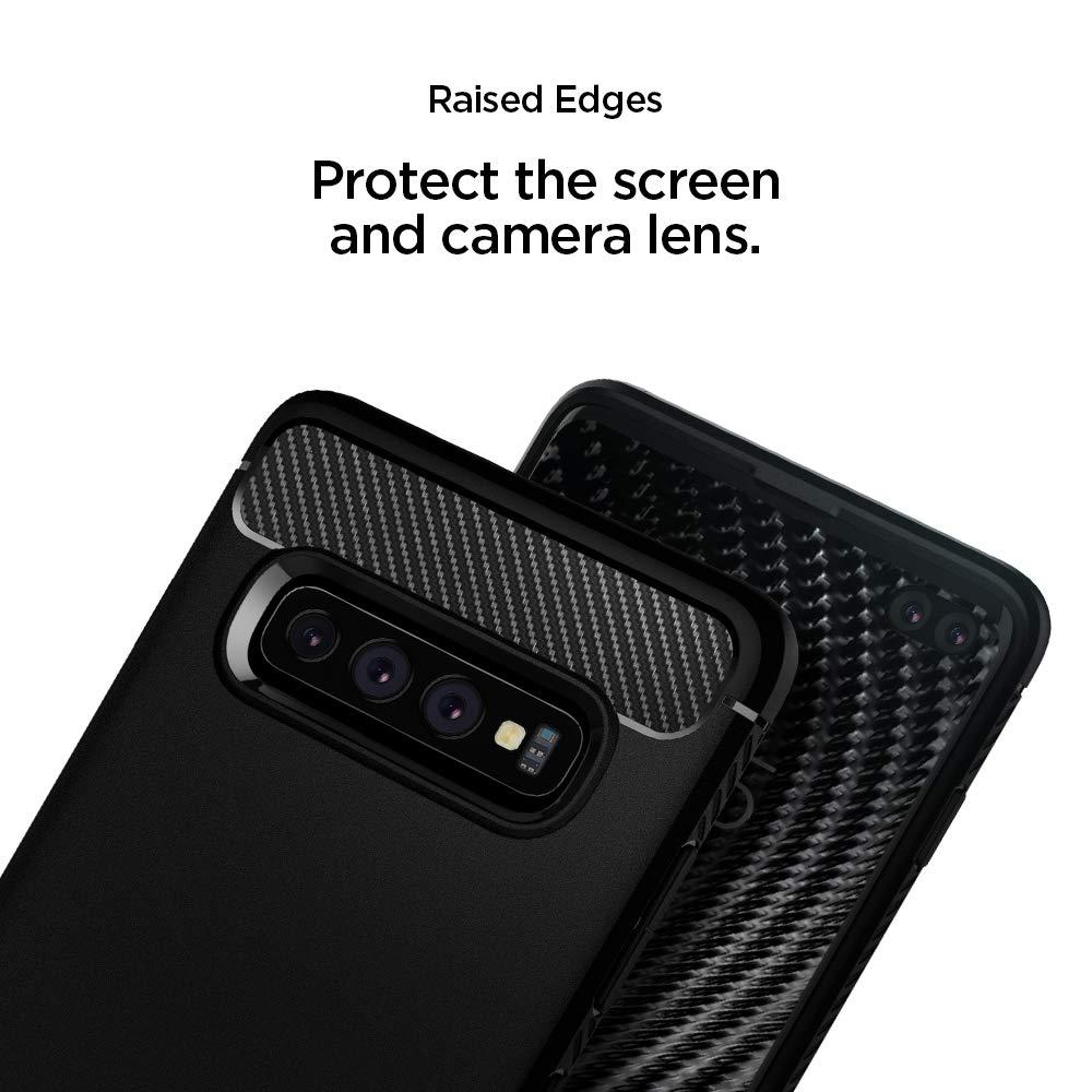 Spigen® Rugged Armor™ 606CS25765 Galaxy S10+ Plus Case - Matte Black