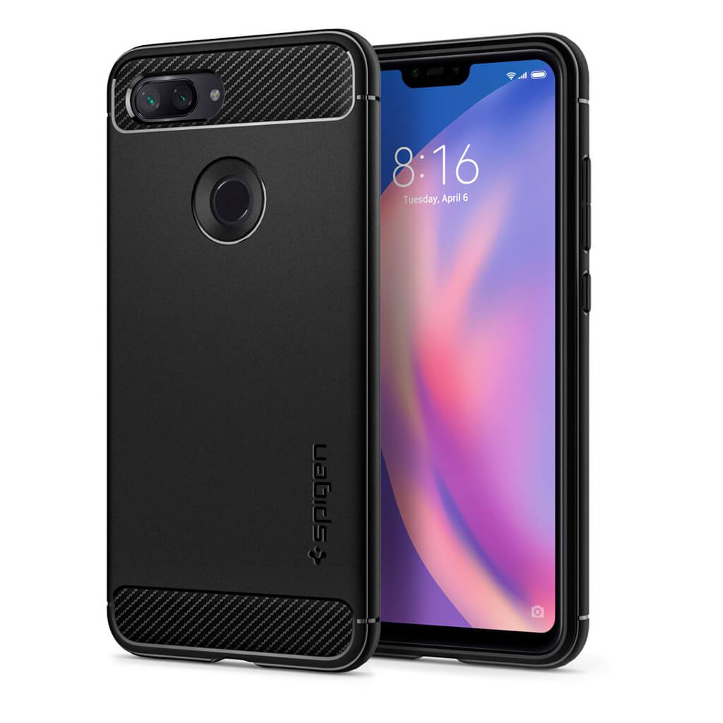Spigen® Rugged Armor™ S27CS25598 Xiaomi Mi 8 Lite Case - Black