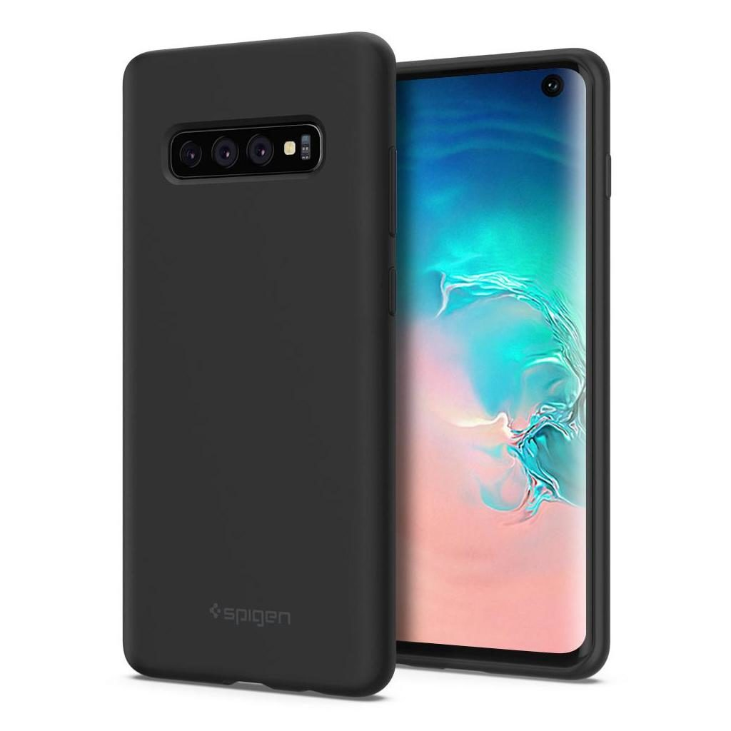 Spigen® Silicone Fit™ 605CS25818 Samsung Galaxy S10 Case - Black