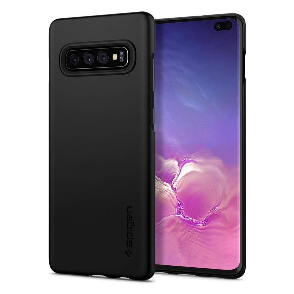 Spigen® Thin Fit™ 606CS25756 Samsung Galaxy S10+ Plus Case - Black