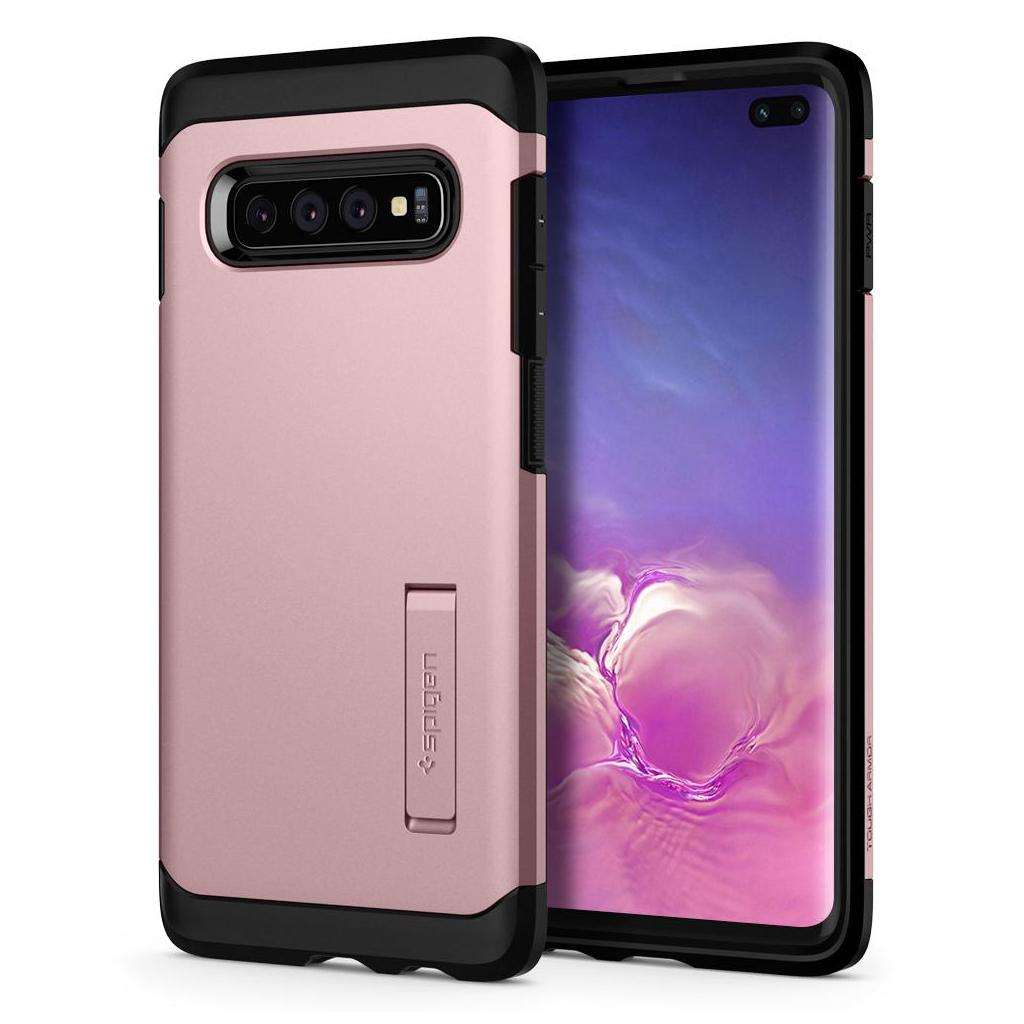 Spigen® Tough Armor™ 606CS25772 Samsung Galaxy S10+ Plus Case - Rose Gold