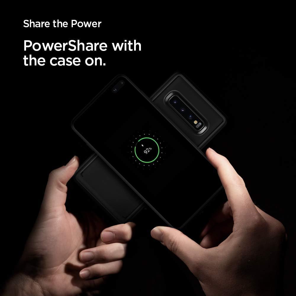 Spigen® Ultra Hybrid™ 606CS25767 Samsung Galaxy S10+ Plus Case - Matte Black