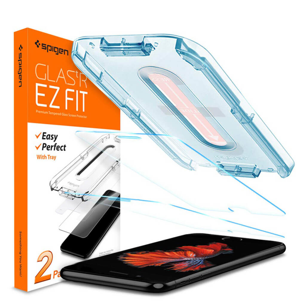 Spigen® (x2Pack) GLAS.tR EZ FIT™ HD 054GL22382 iPhone 8 / 7 Premium Tempered Glass Screen Protector