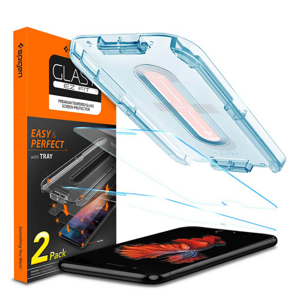 Spigen® (x2Pack) GLAS.tR EZ FIT™ HD iPhone 8 Plus / 7 Plus Premium Tempered Glass Screen Protector