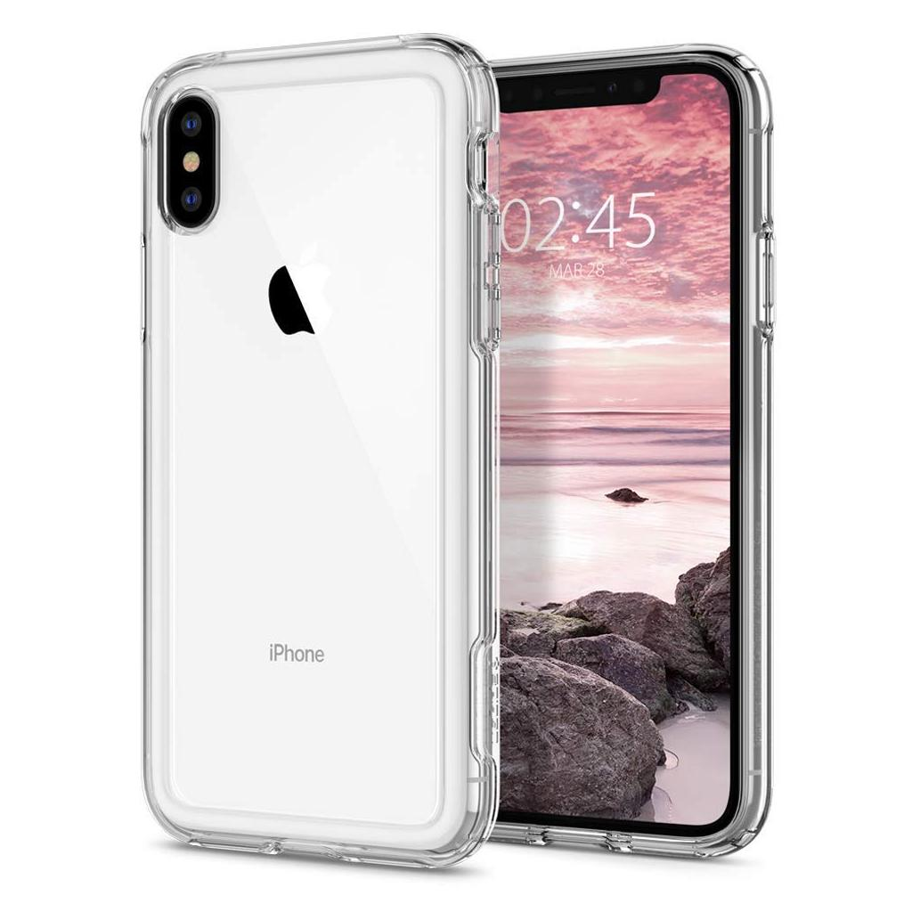 Spigen® Crystal Hybrid™ 063CS25140 iPhone XS / X Case - Crystal Clear