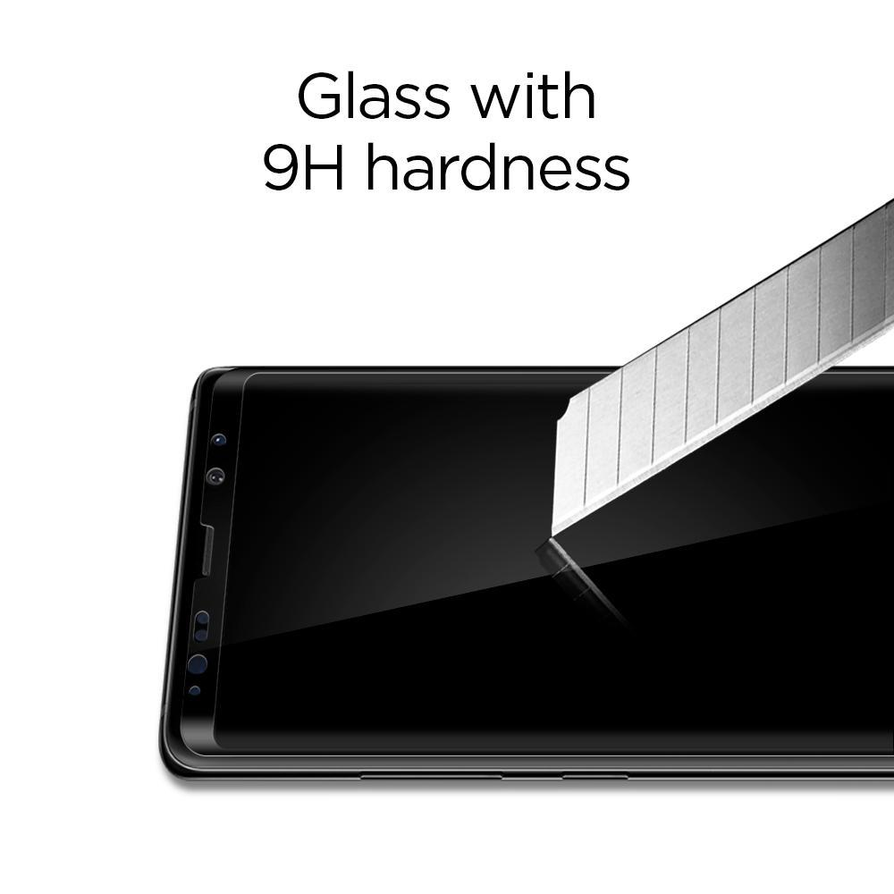 best service c85e6 bce95 Spigen® GLAS.tR™ Curved Full Cover HD 587GL22612 Samsung Galaxy Note 8  Premium Tempered Glass Screen Protector