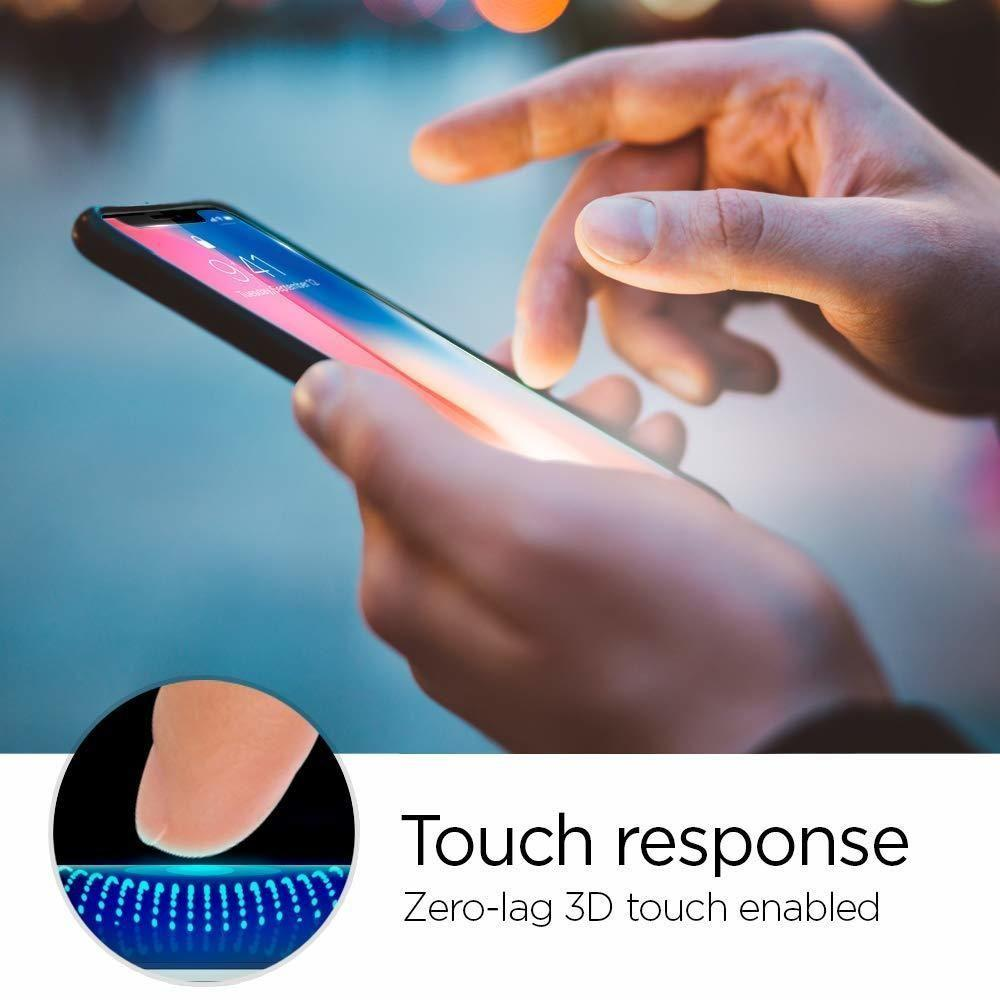 Spigen® GLAS.tR EZ FIT™ HD 063GL24823 iPhone XS / X Premium Tempered Glass Screen Protector