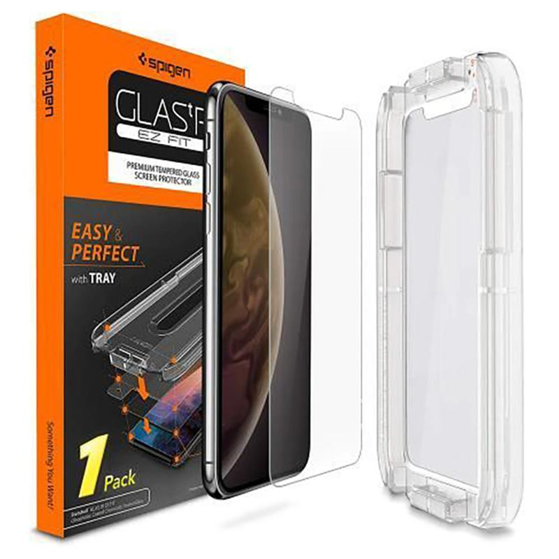 Spigen® GLAS.tR EZ FIT™ HD 063GL24823 iPhone XS / X Premium Tempered Glass Screen Protector