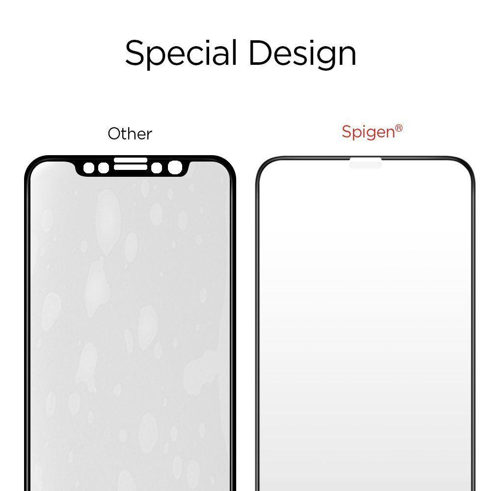 Spigen® GLAS.tR™ Full Cover HD 063GL25234 iPhone XS / X Premium Tempered Glass Screen Protector
