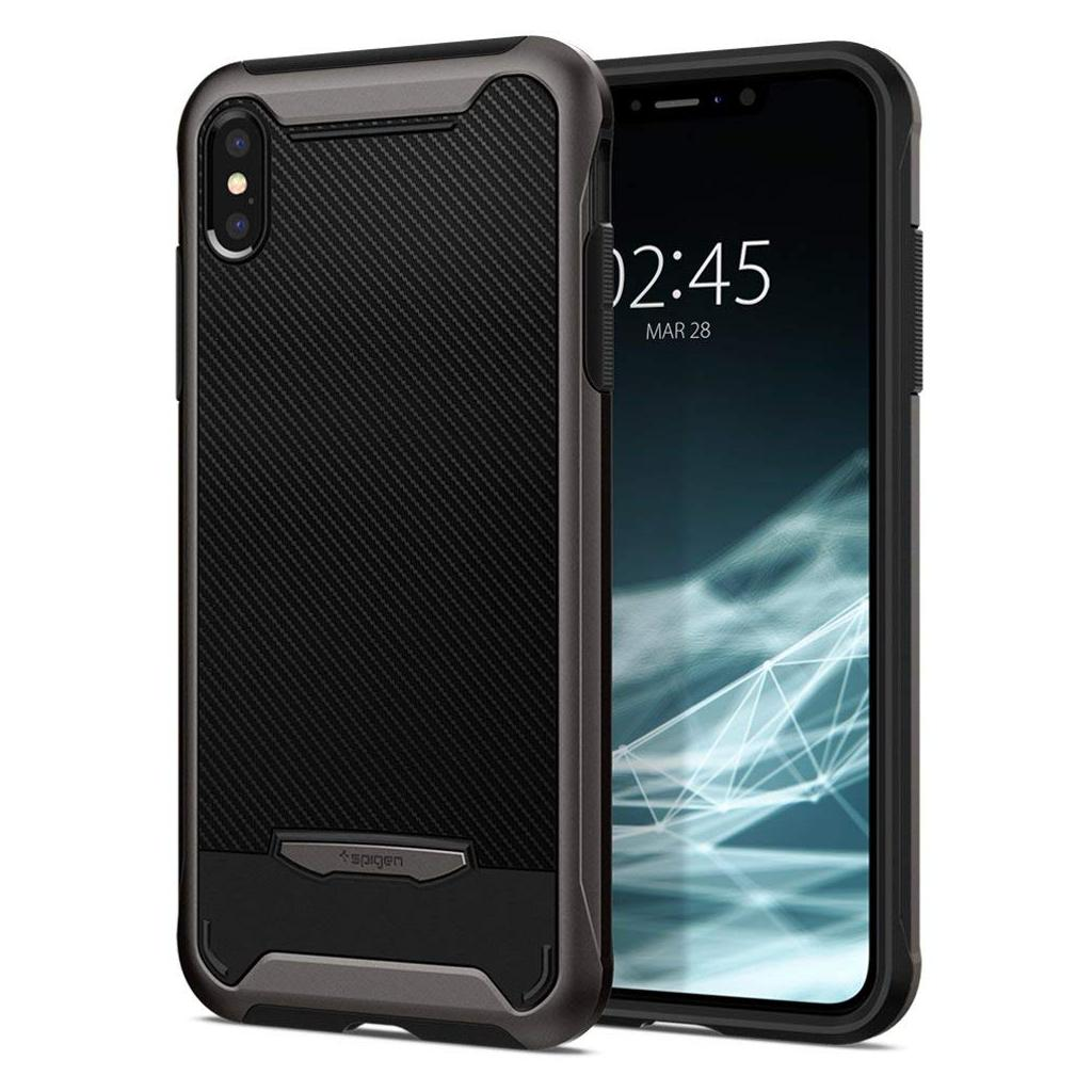 Spigen® Hybrid NX™ 063CS24943 iPhone XS / X Case - Gunmetal