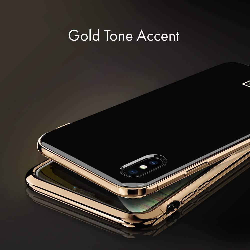 Spigen® La Manon Étui 063CS25310 iPhone XS / X Case - Gold Black