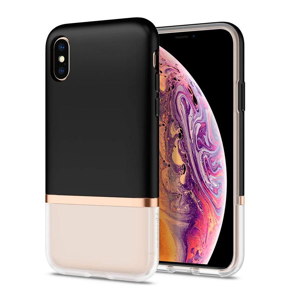 Spigen® La Manon Jupe 063CS25368 iPhone XS / X Case - Milk Black