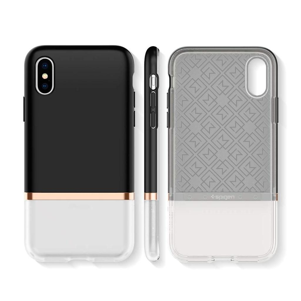 Spigen® La Manon Jupe 063CS25368 iPhone XS / X Case - Milk Black