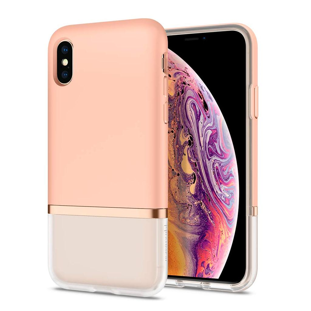 Spigen® La Manon Jupe 063CS25369 iPhone XS / X Case - Milk Peach